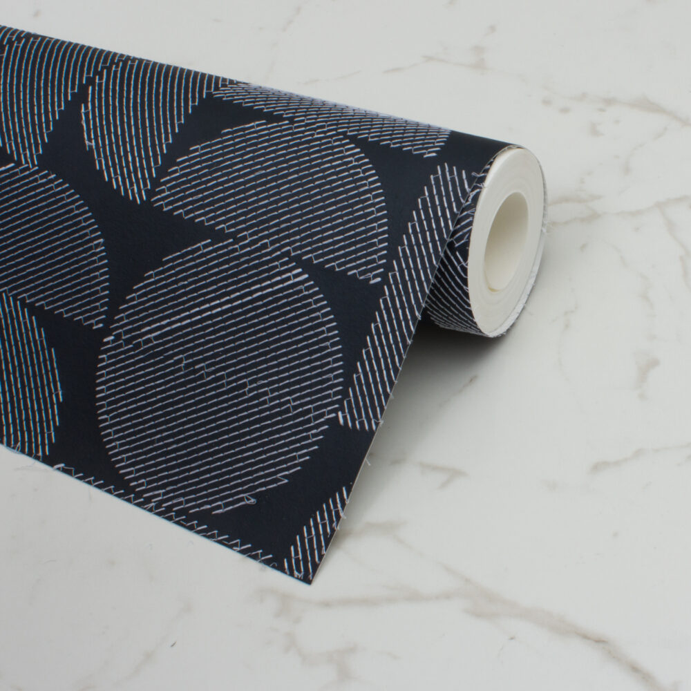 ARC EMBROIDERED WALLPAPER | MIDNIGHT