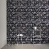AVES EMBROIDERED WALLPAPER | GREY