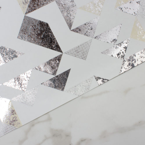 BERMONDSEY SQUARE WALLPAPER | PEWTER