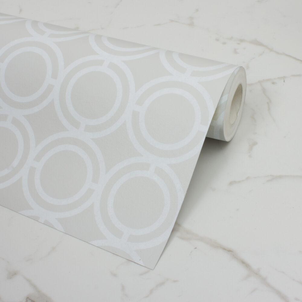 PALLADIAN LOOP WALLPAPER | BROOKLYN WHITE