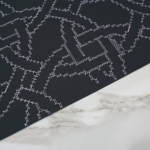 NEW CROSS EMBROIDERED WALLPAPER | NAVY