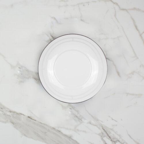 PALLADIAN TEA CUP + SAUCER | DESIGN NO. 1 | BROOKLYN WHITE