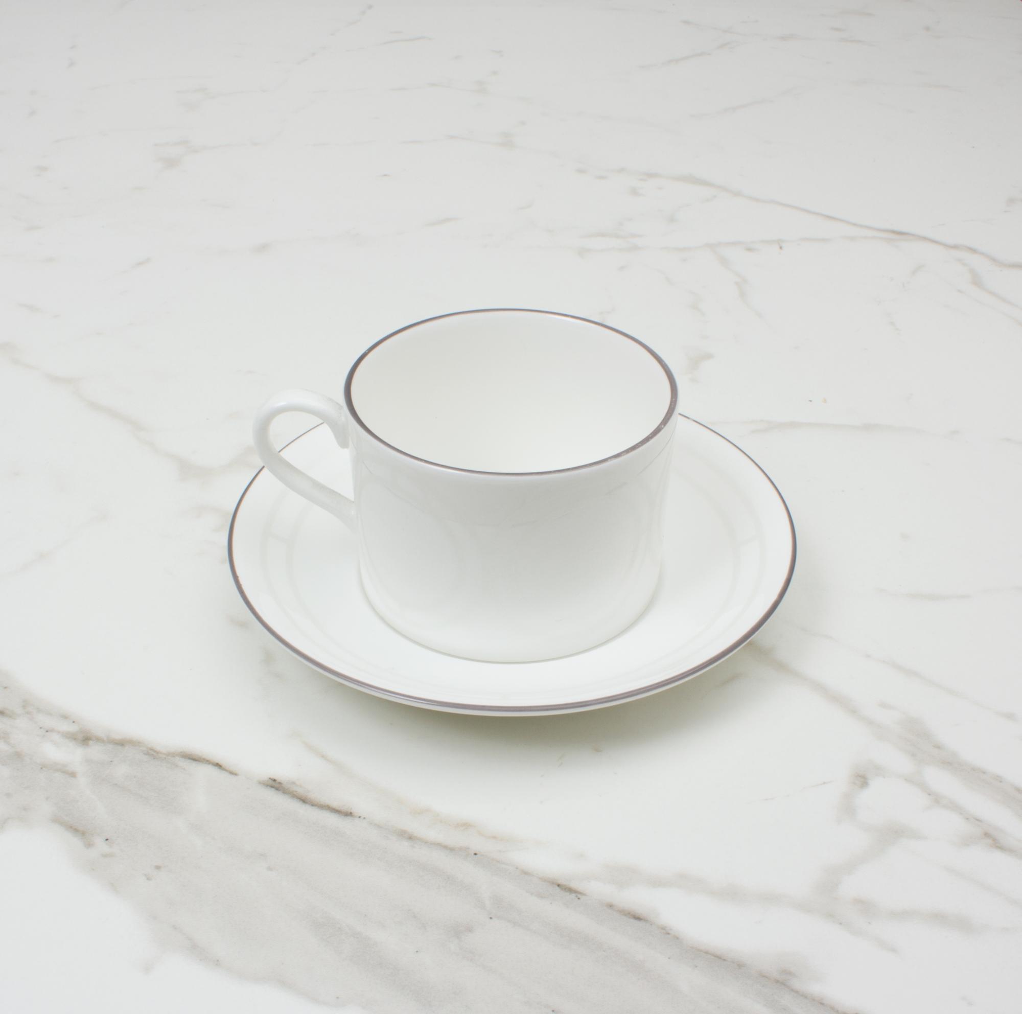 Palladian Tea Cup Saucer Design No 1 Brooklyn White Custhom Shop