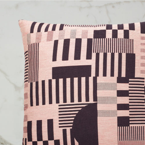 HAYWARD WOVEN DAY CUSHION | AUBERGINE