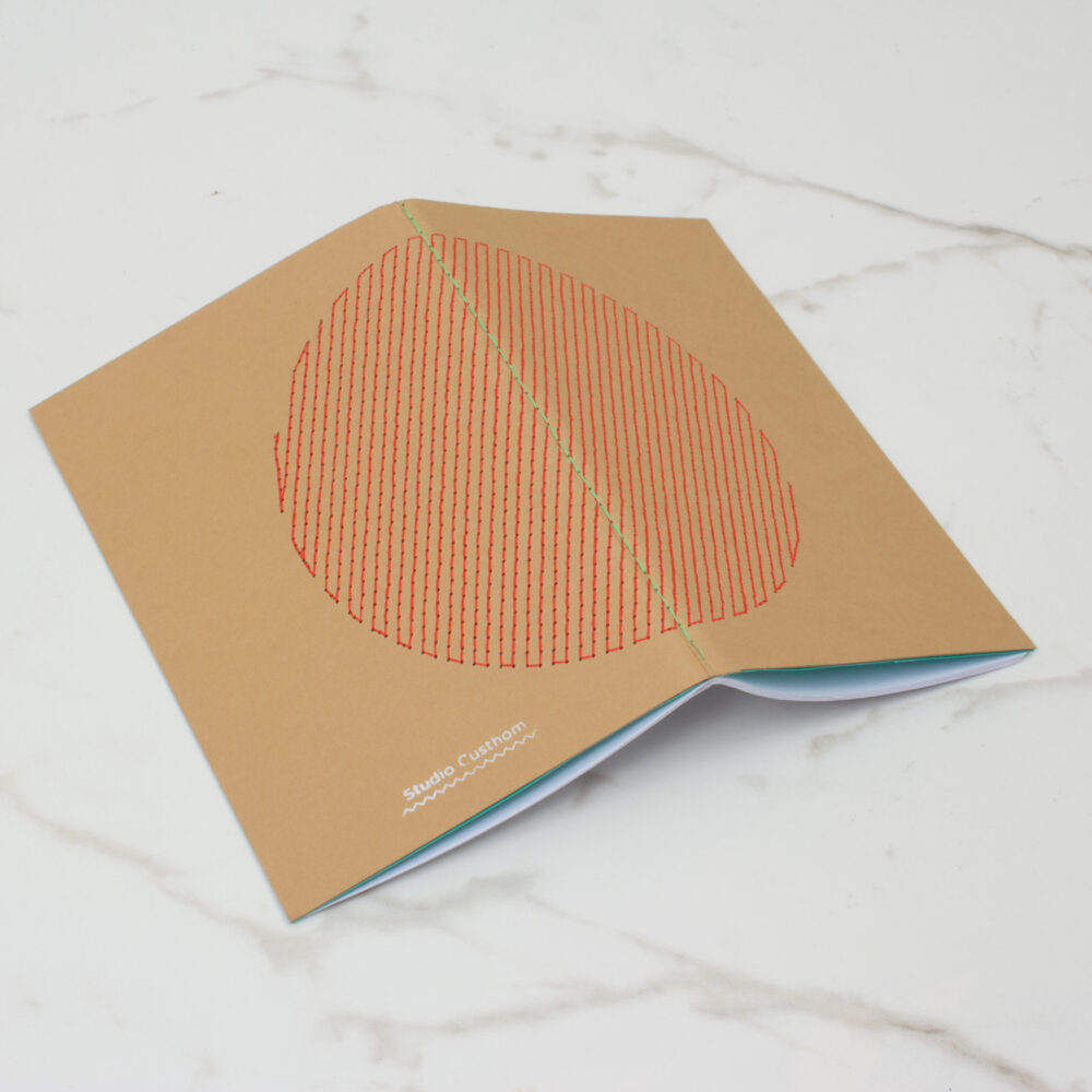 EMBROIDERED NOTEBOOK | RED
