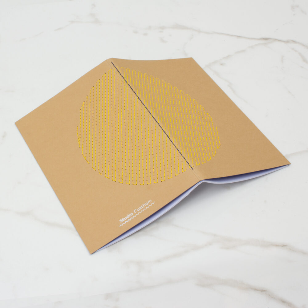 EMBROIDERED NOTEBOOK | YELLOW