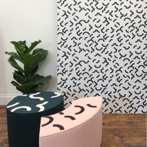 Contour Corner Stool- in situ - low