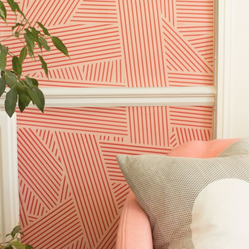 OBLIQUE WALLPAPER | GRAPEFRUIT
