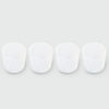 x4 OBLIQUE GLASS TUMBLERS | WHITE
