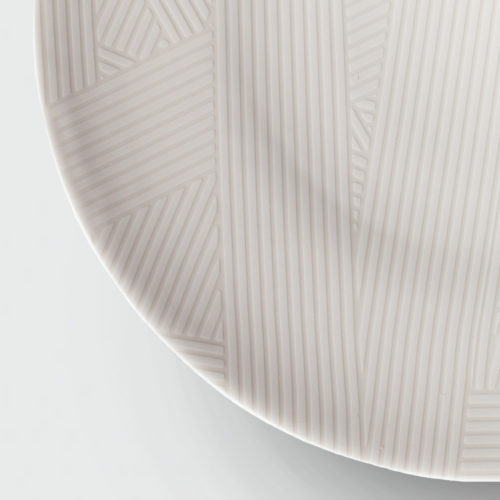 OBLIQUE LARGE COUPE PLATE | WHITE