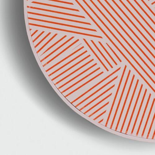 FRAMED OBLIQUE PRINT | GRAPEFRUIT