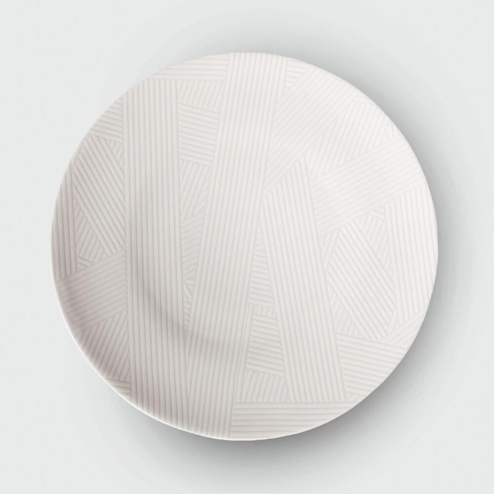 OBLIQUE LARGE COUPE PLATE | WHITE