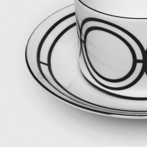 PALLADIAN BLACK TEA CUP + SAUCER | DESIGN NO. 1