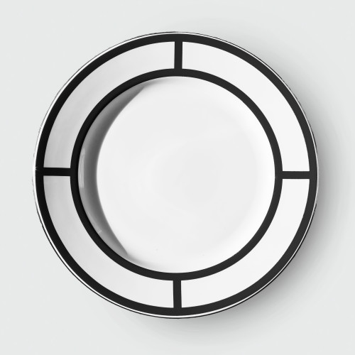 Palladian Dinner plate Black