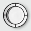 PALLADIAN BLACK DINNER PLATE | DESIGN NO.1