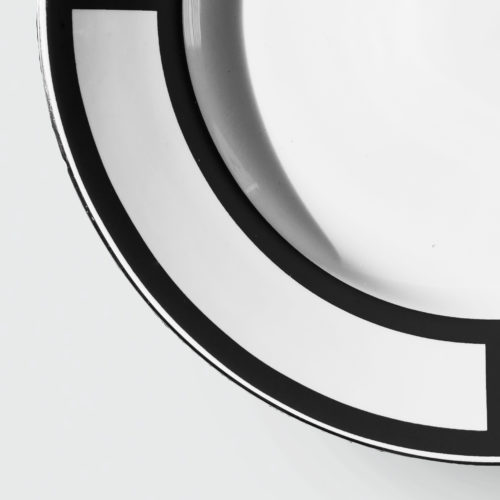 PALLADIAN BLACK DINNER PLATE | DESIGN NO.1
