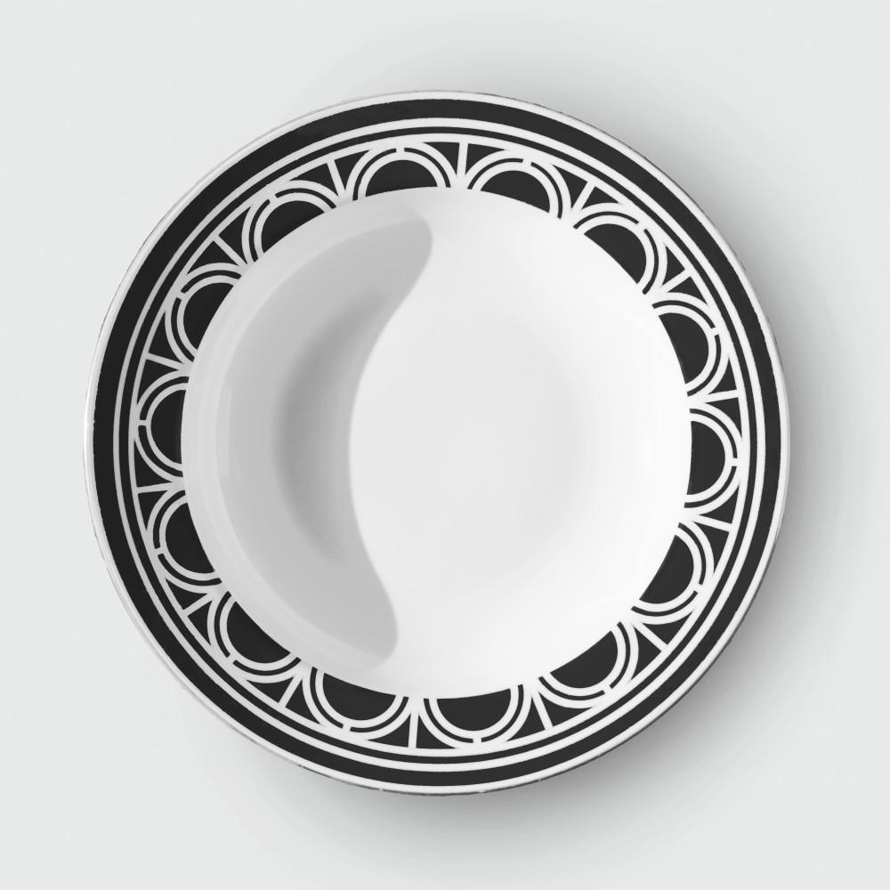 Palladian soupplate Black(colour bg cut out)