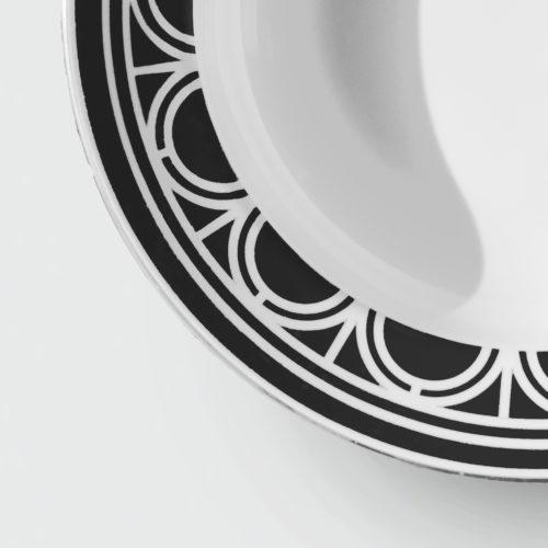 PALLADIAN  BLACK SOUP BOWL