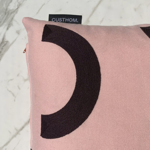 CONTOUR EMBROIDERED DAY CUSHION | POMPADOR