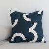 CONTOUR EMBROIDERED DAY CUSHION | CARDINAL