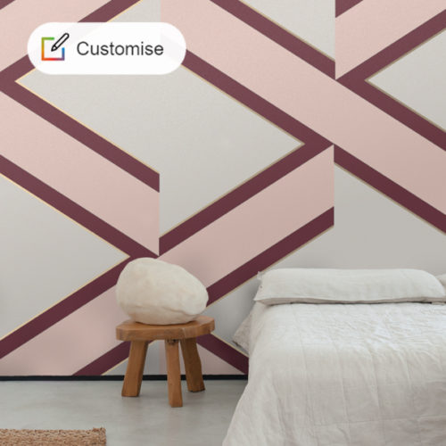 CUSTOM COLOUR : Accent wallpaper