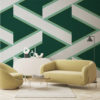 OVERSCALE ACCENTWALLPAPER | RACING GREEN